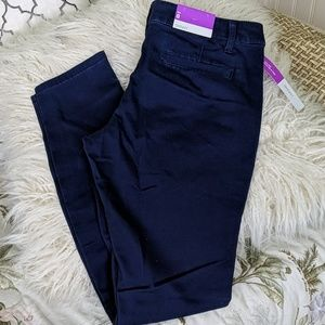 NWT Mossimo low rise skinny blue pants - 8